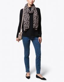 Black Garter Stitch Cotton Sweater