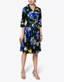 Audrey Blue and White Floral Cotton Shirt Dress