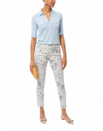 Parla Ice White Floral Spotty Printed Pant