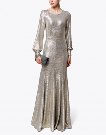 Illusion Silver Foil Jersey Gown
