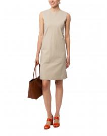 Giovanetta Khaki Stretch Cotton Dress