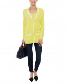 Kiwi Green and White Pima Cotton Blazer
