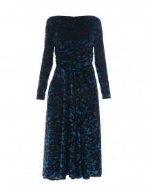 7820f211acc Blue Tapestry Velvet Jacquard Dress