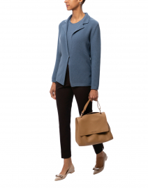 Birillo Blue Wool Cardigan Jacket