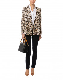 Leopard Print Double Breasted Blazer