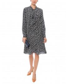 Lotte Domino Blue Print Silk Dress