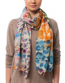 Vibrance Multicolored Wool Silk Scarf