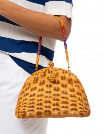 Normani Light Honey Wicker Bag