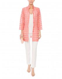 Rita Salmon Pink Sheer Plaid Shirt