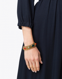 Strada Green and Red Medium Bracelet