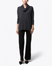 Grey Exposed Seam Cashmere Sweater