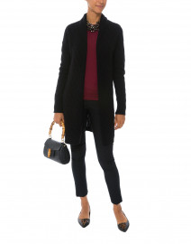 Sophie Black Cable Knit Cashmere Cardigan