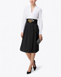 Matea Black and White Cotton Shirt Dress