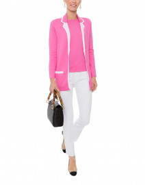 Pink and White Pima Cotton Blazer