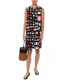 Ostuni Multicolor Geometric Stretch Poplin Dress