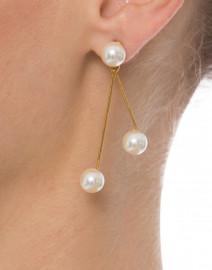 Pearlina Gold Drop Earrings