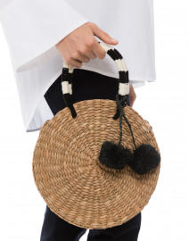 Isabel Natural Round Woven Seagrass Tote