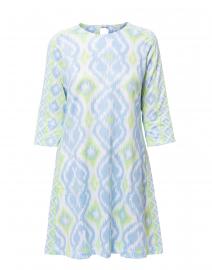 53b9fb9f0a Quick look Gretchen Scott Blue Lime Ikat Print Swing Dress  149 More colors  available ...