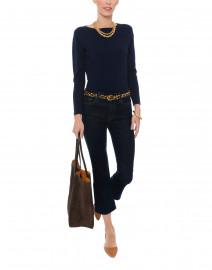 Navy Pima Cotton Sweater