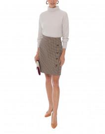 Heritage Brown and Navy Check Skirt