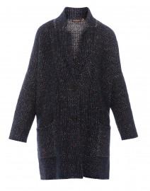 e57acf842 Blue and Burgundy Tweed Sweater Coat