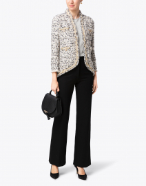 Ivory and Black Gold Lurex Tweed Jacket