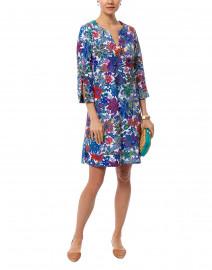 Megan White Botanic Floral Stretch Dress