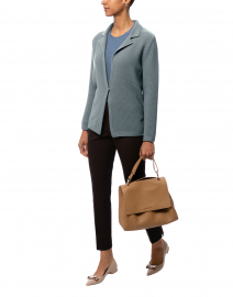 Birillo Blue Wool Cardigan Jacket