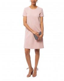 Rose Pink Stretch Cotton Shift Dress
