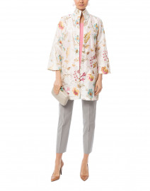 Rita Cream English Garden Embroidered Silk Top