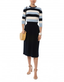 Day Dreamer Striped Cotton Knit Dress