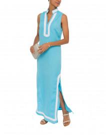 Ocean Blue Linen Tunic Dress