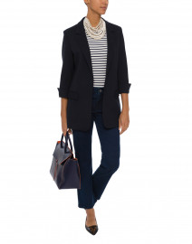 Clover Navy Stretch Blazer