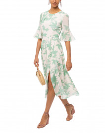 Shilpa Duckegg Shadow Midi Silk Dress