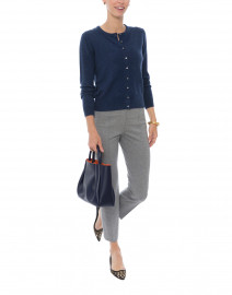 Navy Cashmere Cardigan