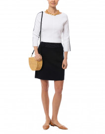 Clementine Navy Milano Skirt