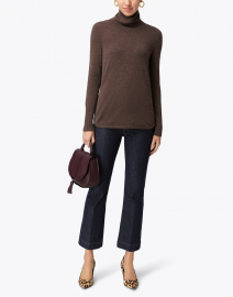 Brown Cashmere Sweater with Side Zips