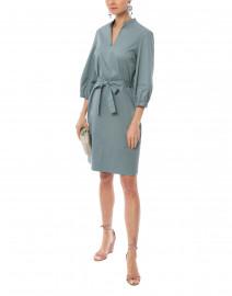 Slate Green Stretch Cotton Dress