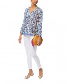 Loreli Josefine Blue Floral Printed Tunic Top