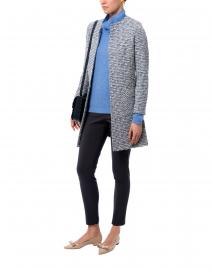 Blue Waffle Stitch Cashmere Sweater