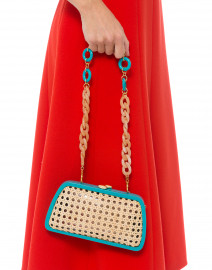 Tina Turquoise and Wicker Minaudiere