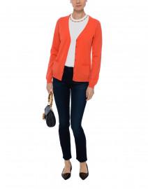 Orange Cashmere Cardigan
