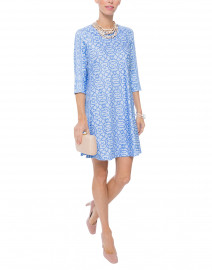 Periwinkle and White Rio Gio Swing Dress