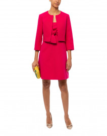 Fuchsia Ottoman Ribbed Cotton Jacket