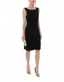 Black Pleated Hem Dress