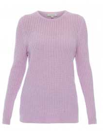 48eee855be Kinross. Lavender Micro Cable Knit Cashmere Sweater