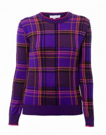 36c2d0843ef460 ... look Escada Sport Sierena Purple Plaid Sweater $495 ...