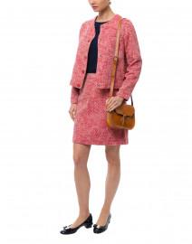 Prisca Red Cotton Tweed Jacket