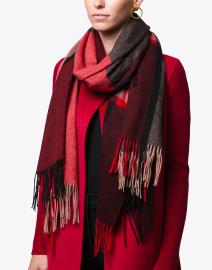 Garnet Plaid Woven Wool Scarf