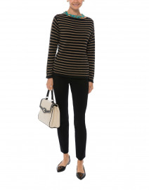 Black and Camel Fine Stripe Sweater